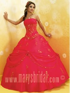Breathtaking Red Vestidos De Quinceanera with Beading and Appliques