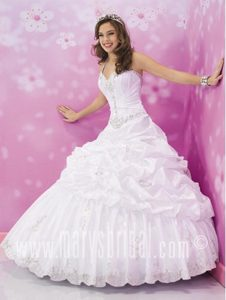 Pick-ups and Beading Decorate White Vestidos De Quinceanera with Halter Top