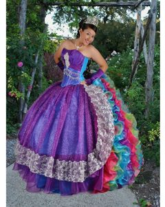 Wonderful Colorful Sweet 16 Party Dresses with Ruffles and Beading