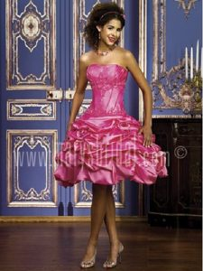 Custom Made La Belle FL Appliqued Hot Pink Quince Dress with Detachable Train