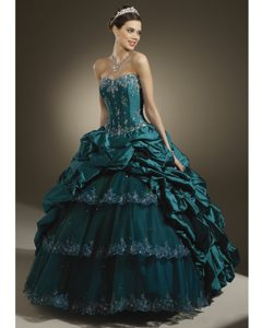 Flirty Century Florida Embroidered Turquoise Quinceanera Dresses for Wholesale