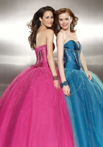 Beautiful Blue Sweet 16 Party Dresses with Appliques and Beading